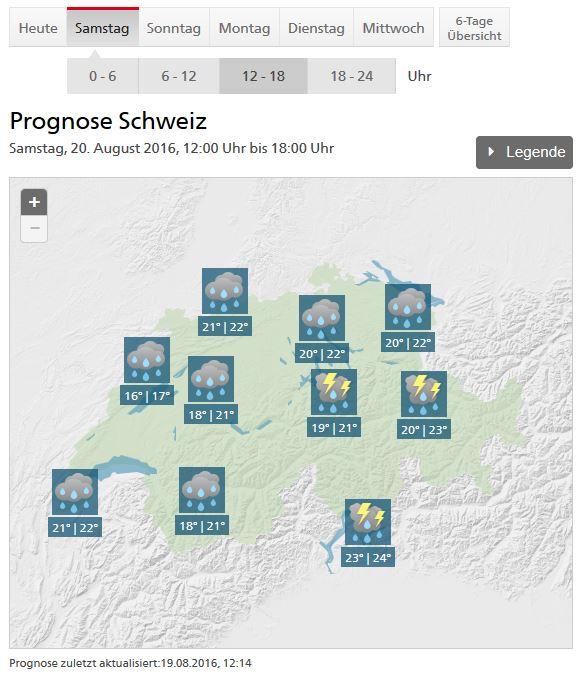 Wetter Prognose Meteo Schweiz